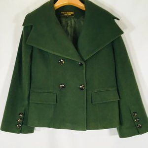 Marvin Richards Wool Cashmere Coat 12  Green